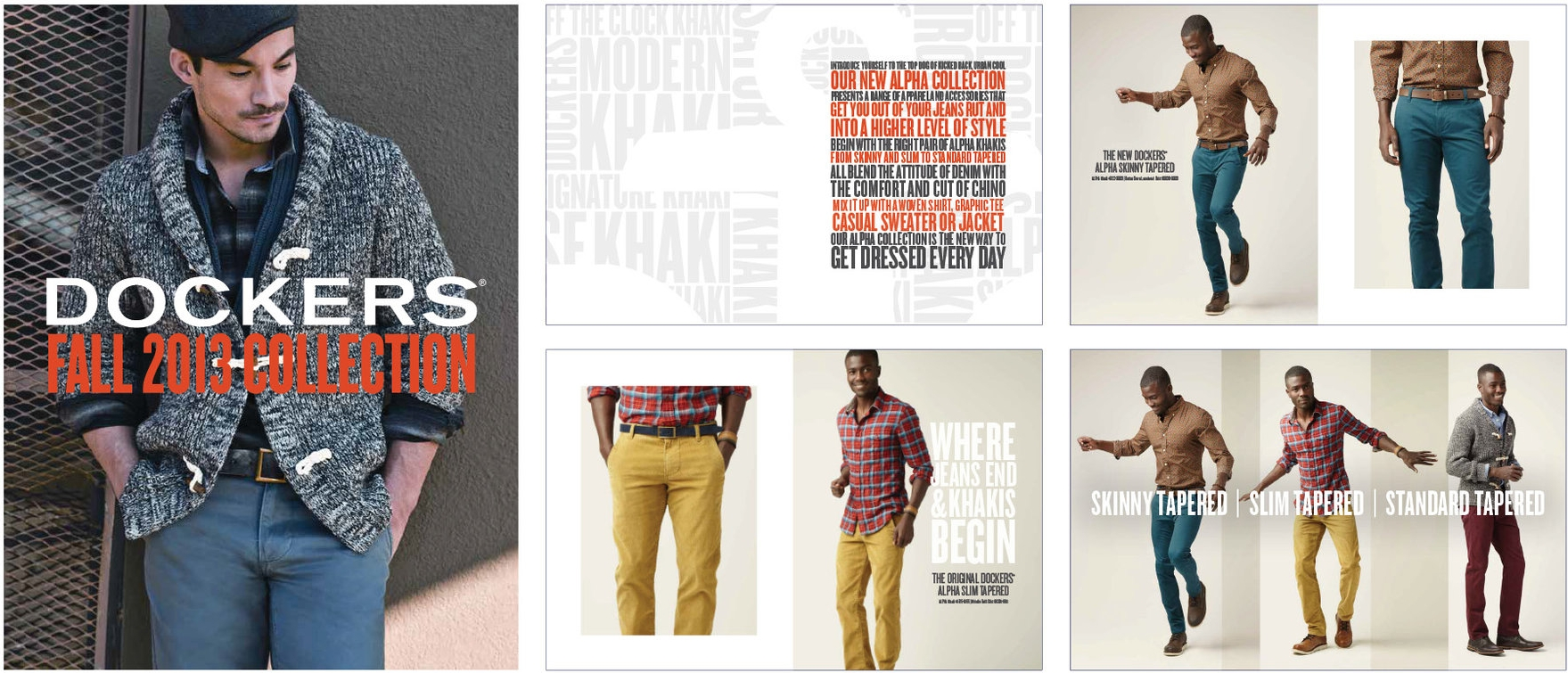 Dockers fall 2013 lookbook - Overview of the seasons offerings for  Fall 2013.Responsible for design and layout.
