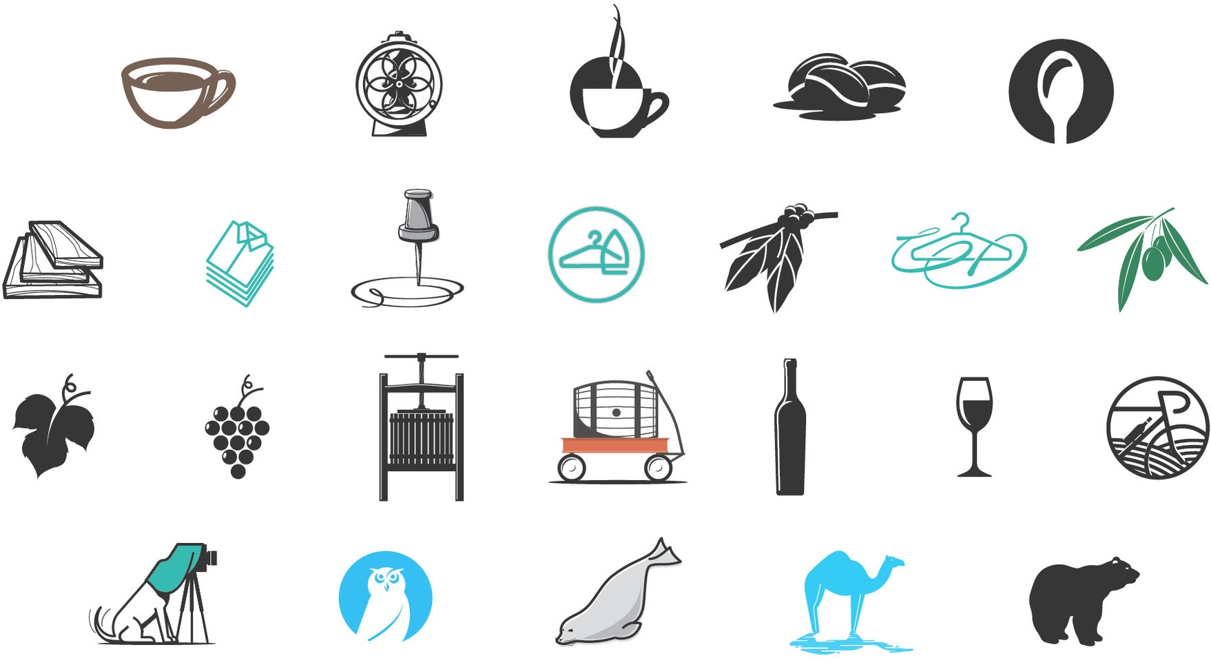 ICONS - Variety of vector icons.Responsible for concept, design and illustration.