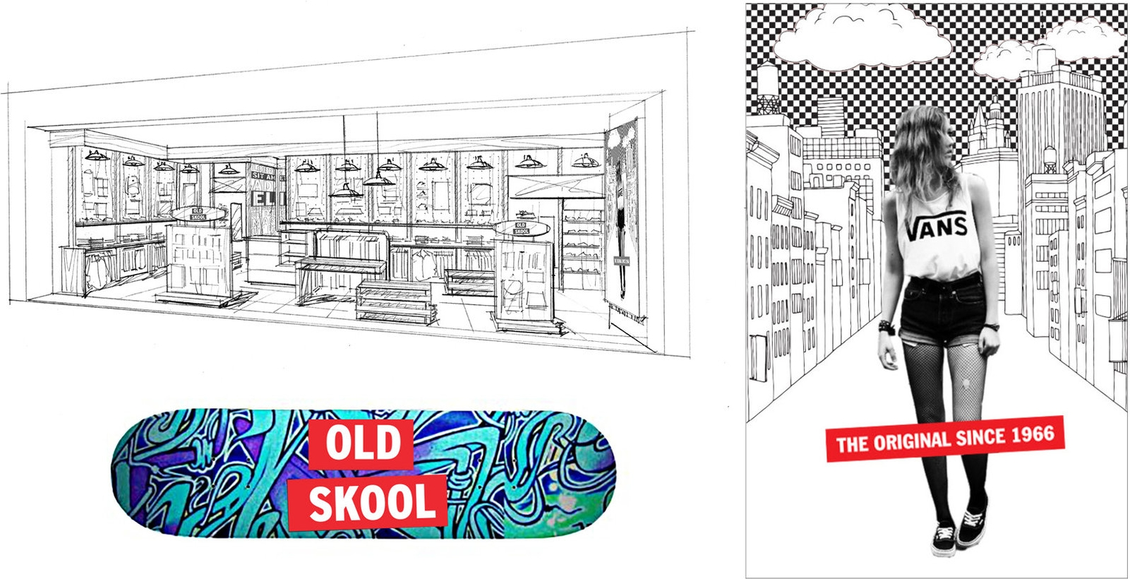 VANS STORE CONCEPT GRAPHICS - Graphics and store concept for a store in Singapore.Responsible for graphic design and renderings.
