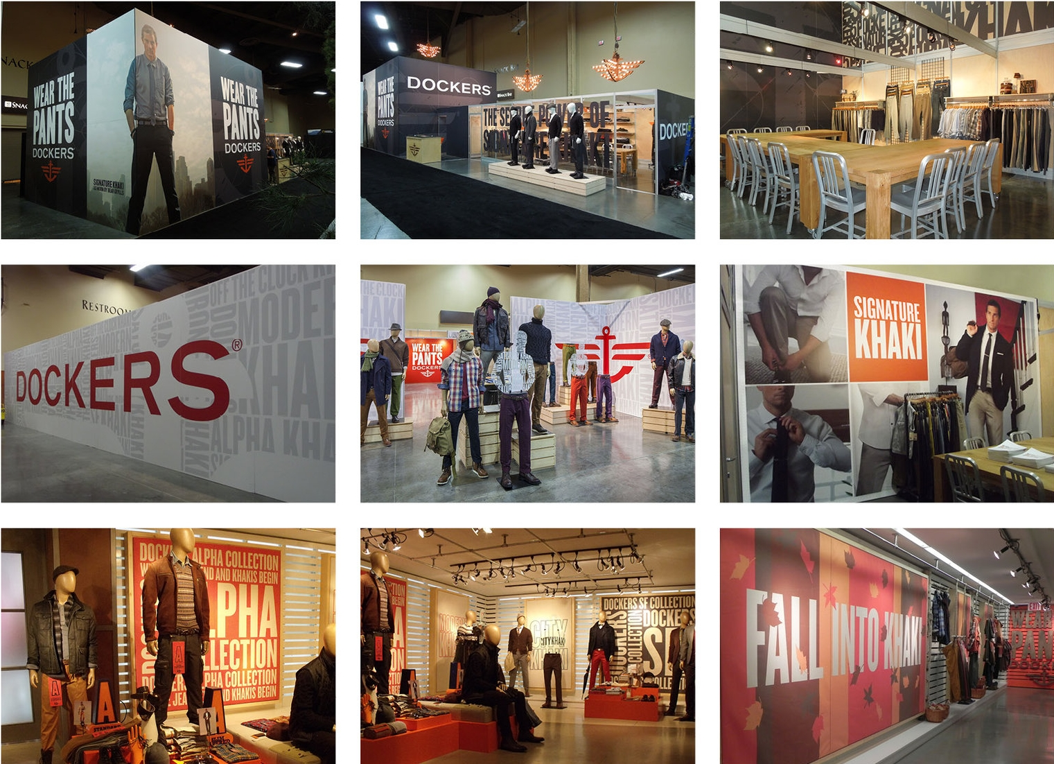 TRADE SHOW GRAPHICS - Dockers participation in Las Vegas Magic and Market Week.Responsible for concept, graphics.