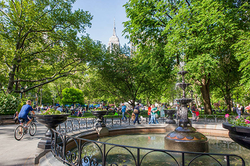madison square park fountain new york city