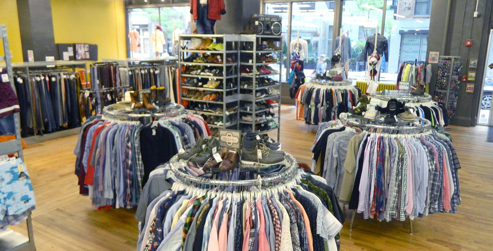 interior clothes rack buffalo exchange chelsea