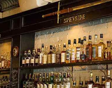 speyside wall at caledonia bar on upper east side manhattan new york city