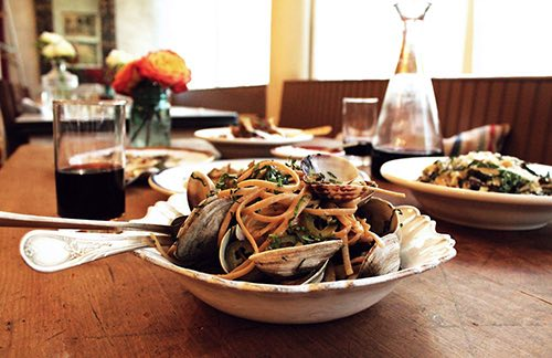 sfoglia pasta and clams