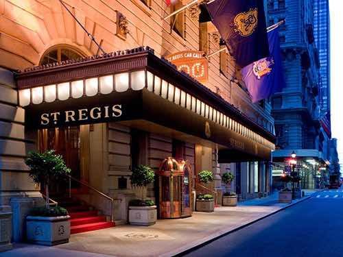 exterior at st regis new york city