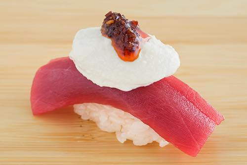 blue fin tuna sushi of gari