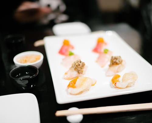 sushi platter sushi of gari