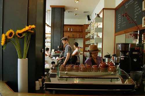 stumptown roasters coffee counter