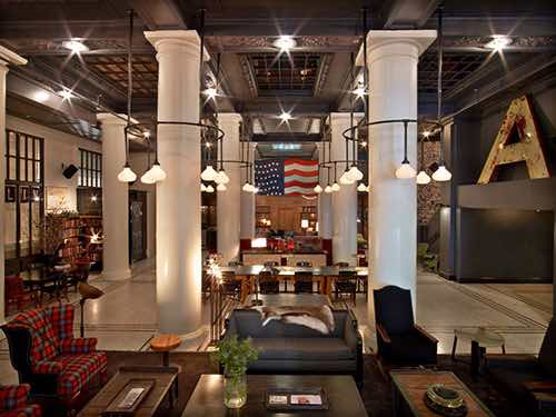 ace hotel lobby interior view