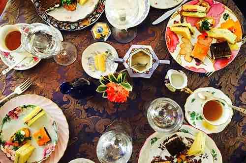 tea service spread at lady mendls