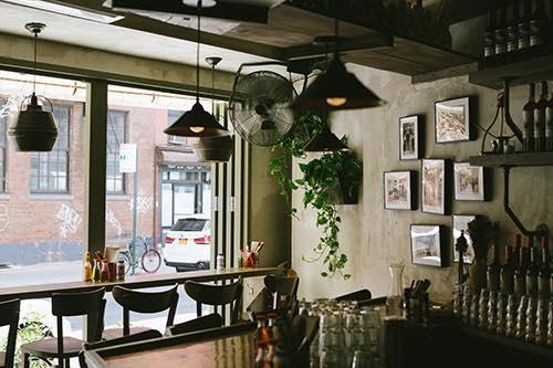 interior at kikis greek restaurant