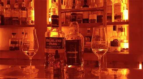 Copper & Oak whiskey bottles  manhattan new york city