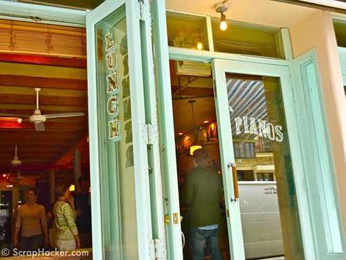 front door at pianos bar