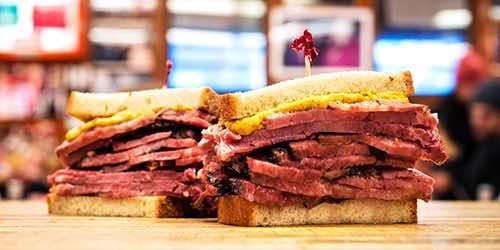corned beef and pastrami sandwich katz's deli