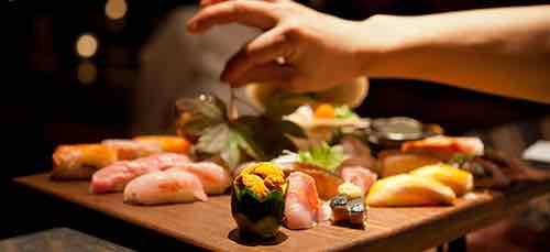 sushi platter at blue ribbon sushi columbus circle