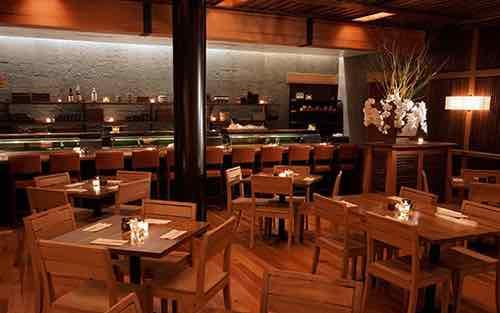 interior at blue ribbon sushi columbus circle manhattan new york city