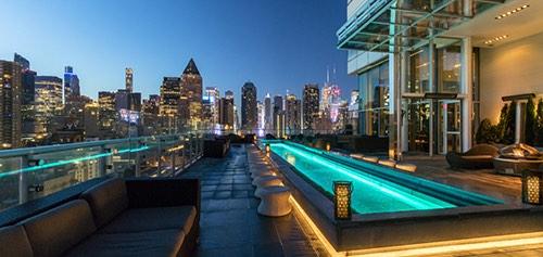 press lounge skyline view ink 48 hotel manhattan new york city