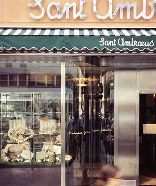 sant ambroeus outside street shot upper east side manhattan new york city ny