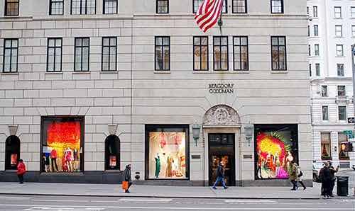 bergdorf goodman store front fifth avenue manhattan new york city ny
