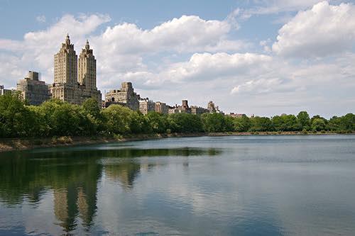 central park reservoir manhattan new york city, ny