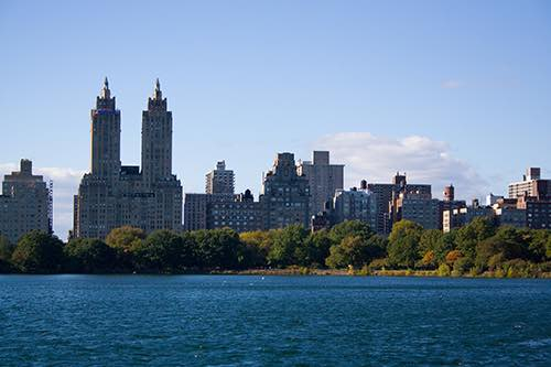upper west side view from central park reservoir