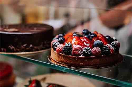 Financier Patisserie Cake Shot Cedar Street Manhattan New York City, NY