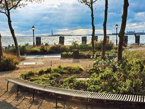 batter park and view of state of liberty