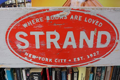 strand bookstore bookshelf