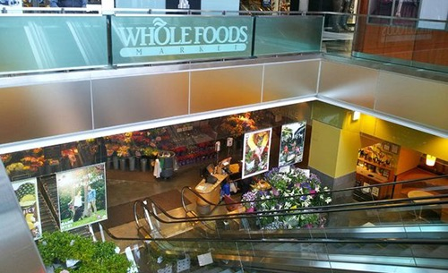 whole foods escalator columbus circle time warner center manhattan new york city ny