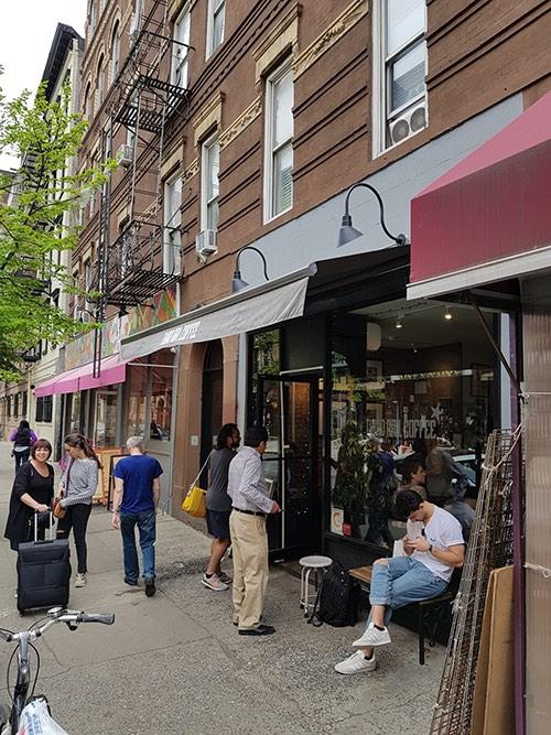 exterior at third rail coffee shop greenwich village manhattan new york city