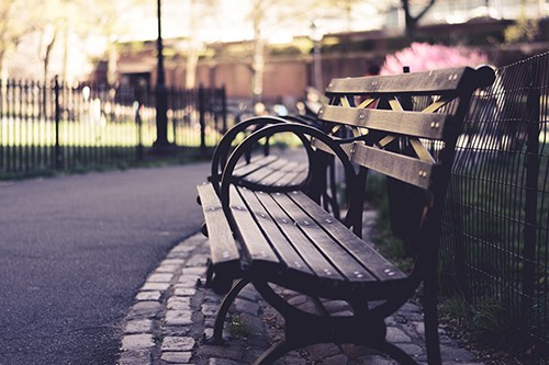 bench outside American Museum of Natural History upper west side manhattan new york city ny