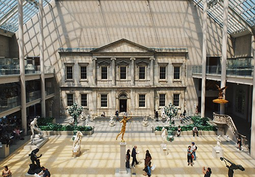 sculptures at The Metropolitan Museum of Art in manhattan new york city ny