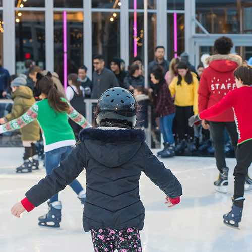 kids winterland rink pier 17 seaport financial district new york city ny