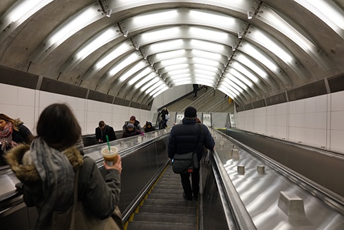 second avenue subway escalator 86th street station upper east side manhattan new york city
