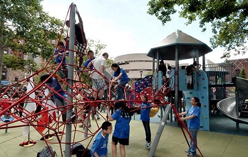 hester street playground chinatown lower east side manhattan new york city ny