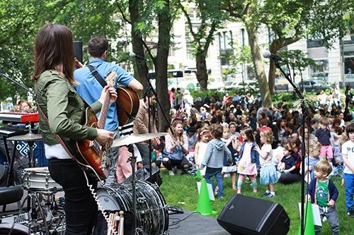 Kids Concert Madison Square Park Manhattan New York City Ny