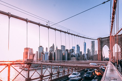 brooklyn bridge dawn brooklyn new york city