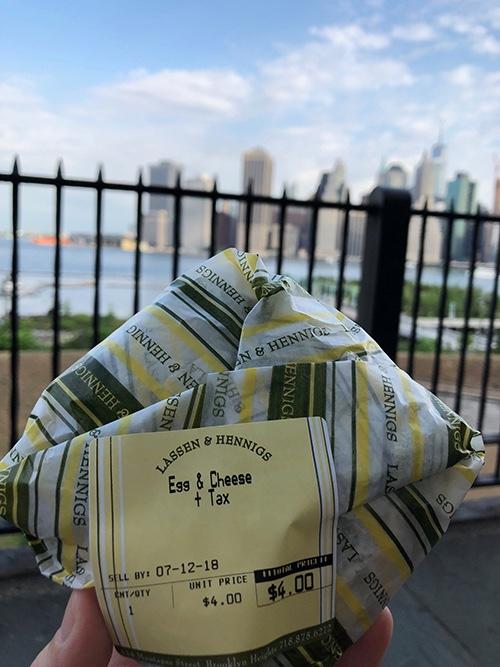 lassen & hennigs sandwich on the brooklyn heights promenade brooklyn heights new york city ny