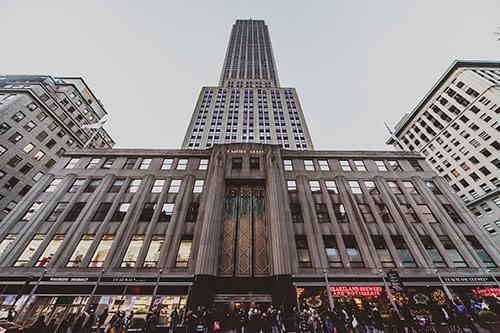 empire state building up close manhattan new york city