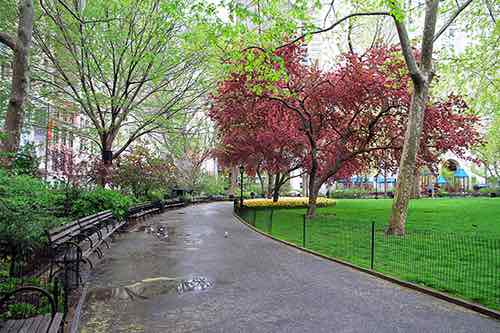 madison square park path manhattan new york city ny