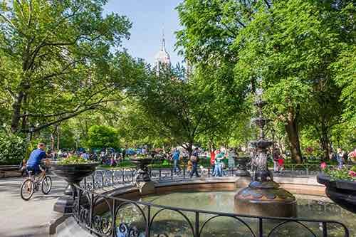madison square park fountain manhattan new york city ny