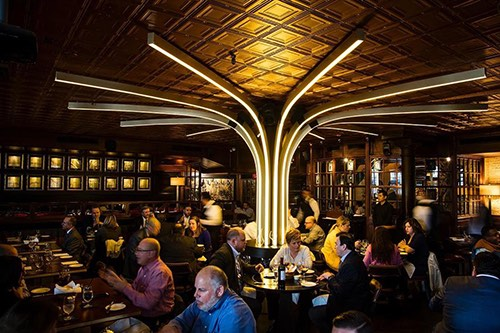 harrys steakhouse inside financial district manhattan new york city ny