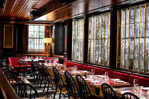 harrys steakhouse inside booth financial district manhattan new york city ny