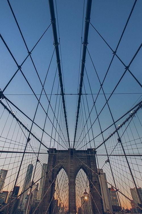 sky view from brooklyn bridge dumbo brooklyn new york city ny