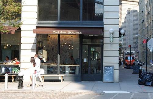 one girl cookies exterior on main street dumbo brooklyn new york city ny