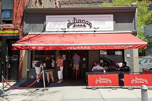 julianas pizza street view exterior dumbo brooklyn bridge brooklyn new york city ny