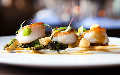 scallops at catch chelsea manhattan new york city