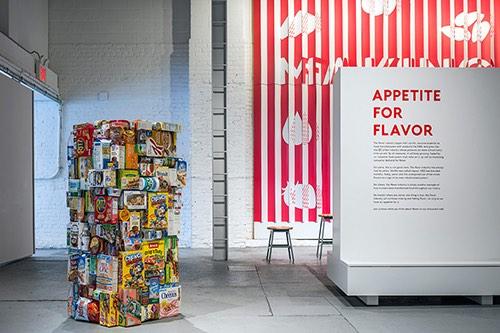 Copy of mofad interior cereal exhibit in williamsburg brooklyn new york city ny