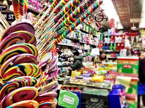 economy candy shop interior lower east side manhattan new york city ny