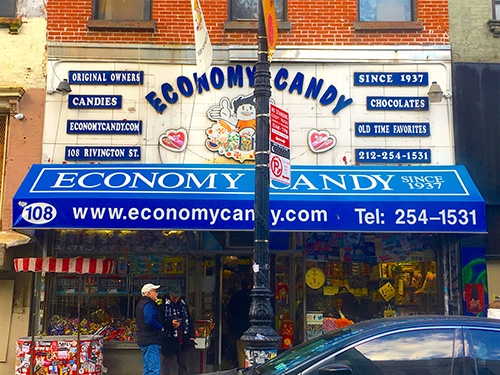 economy candy shop exterior lower east side manhattan new york city ny